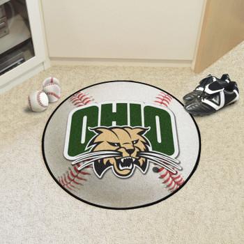 """27"""" Ohio University Baseball Style Round Mat"""