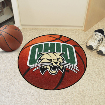"27"" Ohio University Basketball Style Round Mat"