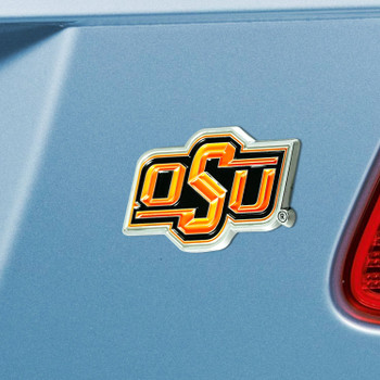 Oklahoma State University Orange Color Emblem, Set of 2