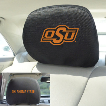Oklahoma State University Car Headrest Cover, Set of 2