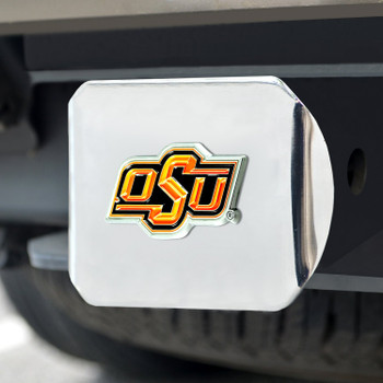 Oklahoma State University Color Hitch Cover - Chrome