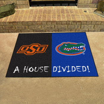 "33.75"" x 42.5"" Oklahoma State / Florida House Divided Rectangle Mat"