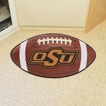 "20.5"" x 32.5"" Oklahoma State University Football Shape Mat"