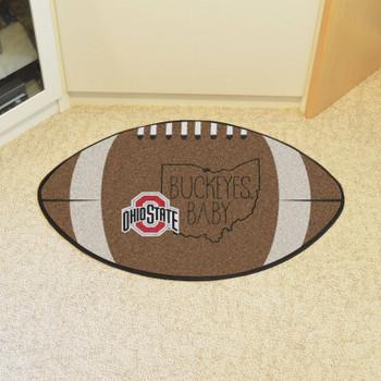 """20.5"""" x 32.5"""" Oklahoma State University Southern Style Football Shape Mat"""
