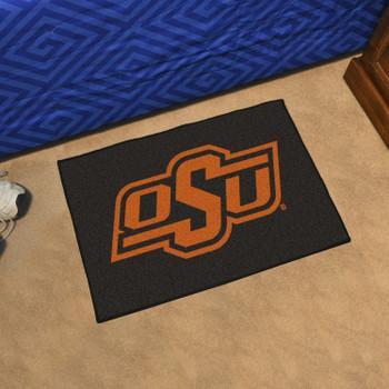 "19"" x 30"" Oklahoma State Black Rectangle Starter Mat"