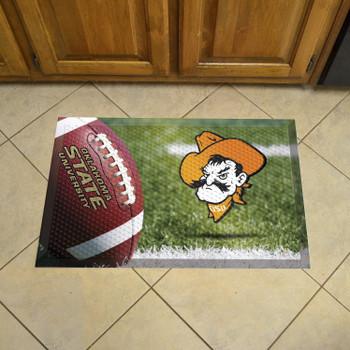 "19"" x 30"" Oklahoma State University Rectangle Camo Scraper Mat - ""Cowboy"" Logo"