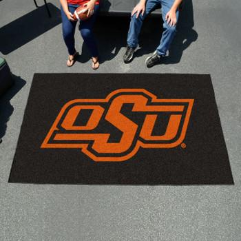 """59.5"""" x 94.5"""" Oklahoma State University Black Rectangle Ulti Mat"""