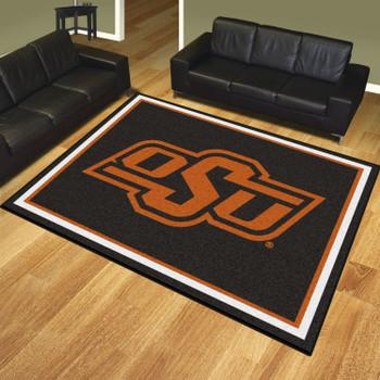 8' x 10' Oklahoma State University Black Rectangle Rug