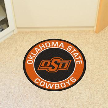 "27"" Oklahoma State University Roundel Round Mat"