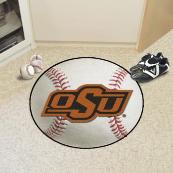 "27"" Oklahoma State University Baseball Style Round Mat"