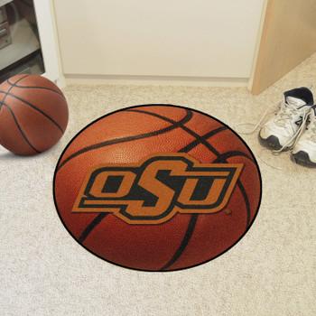 "27"" Oklahoma State University Basketball Style Round Mat"