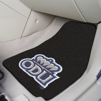 Old Dominion University Black Carpet Car Mat, Set of 2