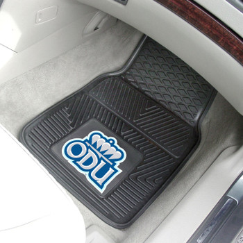 Old Dominion University Heavy Duty Vinyl Front Black Car Mat, Set of 2