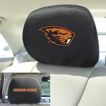 Oregon State University Car Headrest Cover, Set of 2