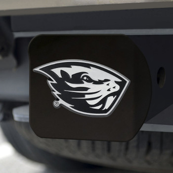 Oregon State University Hitch Cover - Chrome on Black