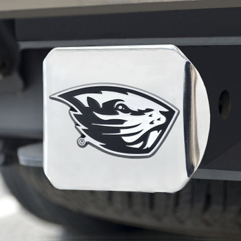 Oregon State University Hitch Cover - Chrome on Chrome