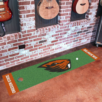 "18"" x 72"" Oregon State University Putting Green Runner Mat"