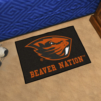 "19"" x 30"" Oregon State University Black Rectangle Starter Mat"