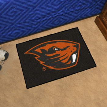 "19"" x 30"" Oregon State University Beavers Black Rectangle Starter Mat"