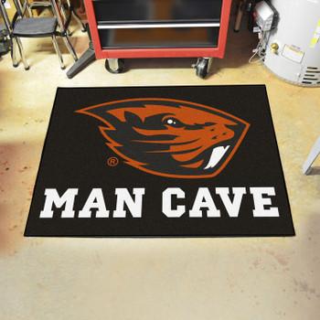 "33.75"" x 42.5"" Oregon State University Man Cave All-Star Black Rectangle Mat"