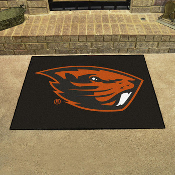 "33.75"" x 42.5"" Oregon State University All Star Black Rectangle Mat"