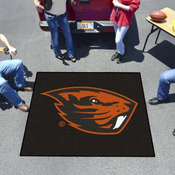 "59.5"" x 71"" Oregon State University Black Tailgater Mat"