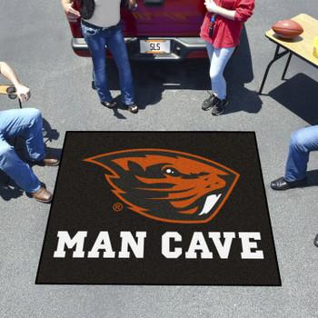 "59.5"" x 71"" Oregon State University Man Cave Tailgater Black Rectangle Mat"
