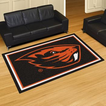 5' x 8' Oregon State University Black Rectangle Rug