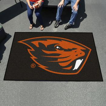"""59.5"""" x 94.5"""" Oregon State University Black Rectangle Ulti Mat"""