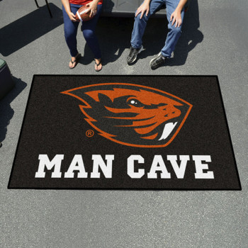 "59.5"" x 94.5"" Oregon State University Man Cave Black Rectangle Ulti Mat"