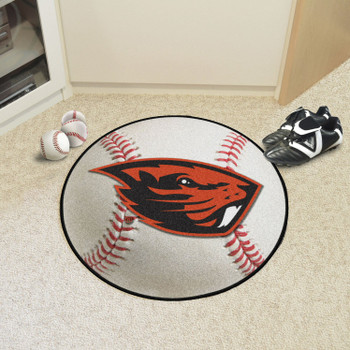 "27"" Oregon State University Baseball Style Round Mat"