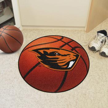"""27"""" Oregon State University Basketball Style Round Mat"""
