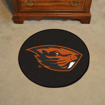 """27"""" Oregon State University Puck Round Mat - """"Beaver"""" Logo"""