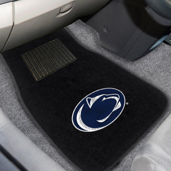 Penn State Embroidered Black Car Mat, Set of 2