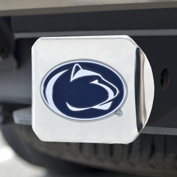 Penn State Color Hitch Cover - Chrome