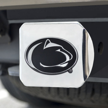 Penn State Hitch Cover - Chrome on Chrome
