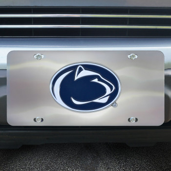 Penn State Diecast Stainless Steel License Plate