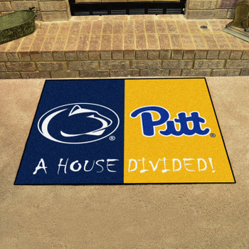 "33.75"" x 42.5"" Penn State / Pittsburgh House Divided Rectangle Mat"