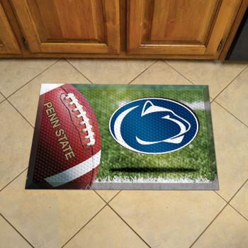 "19"" x 30"" Penn State Rectangle Scraper Mat - ""Nittany Lion"" Logo"