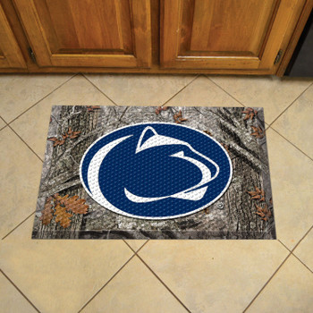 "19"" x 30"" Penn State Rectangle Camo Scraper Mat - ""Nittany Lion"" Logo"