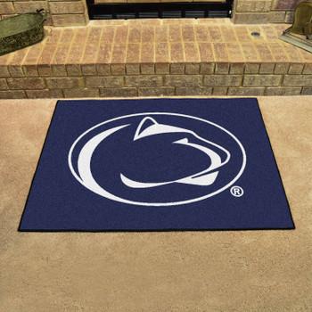 """33.75"""" x 42.5"""" Penn State All Star Blue Rectangle Mat"""