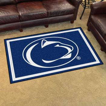 4' x 6' Penn State Blue Rectangle Rug