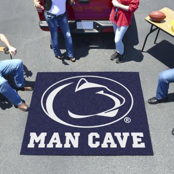 "59.5"" x 71"" Penn State Man Cave Tailgater Blue Rectangle Mat"