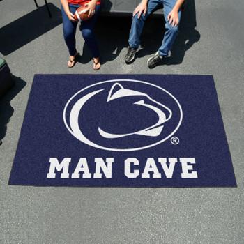 "59.5"" x 94.5"" Penn State Man Cave Blue Rectangle Ulti Mat"
