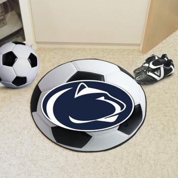 """27"""" Penn State Soccer Ball Round Mat"""