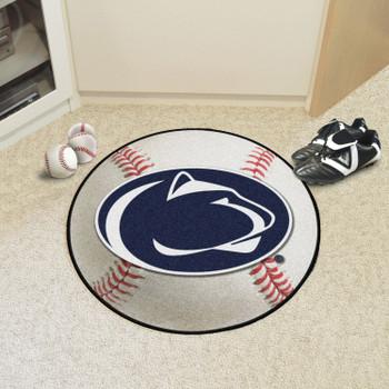 """27"""" Penn State Baseball Style Round Mat"""
