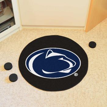 "27"" Penn State Puck Round Mat - ""Nittany Lion"" Logo"