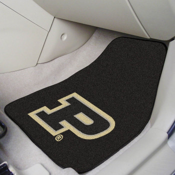 Purdue University Black Carpet Car Mat, Set of 2