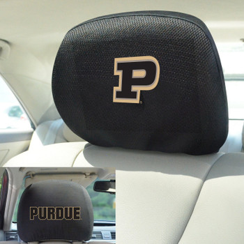 Purdue University Car Headrest Cover, Set of 2