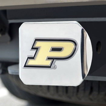 Purdue University Color Hitch Cover - Chrome